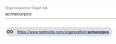 Test Invite Sınav Sistemi Organizsayon Web Adresi Ekran Görüntüsü